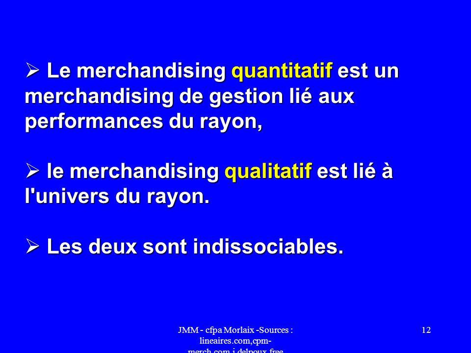 le merchandising qualitatif est lié à l univers du rayon.