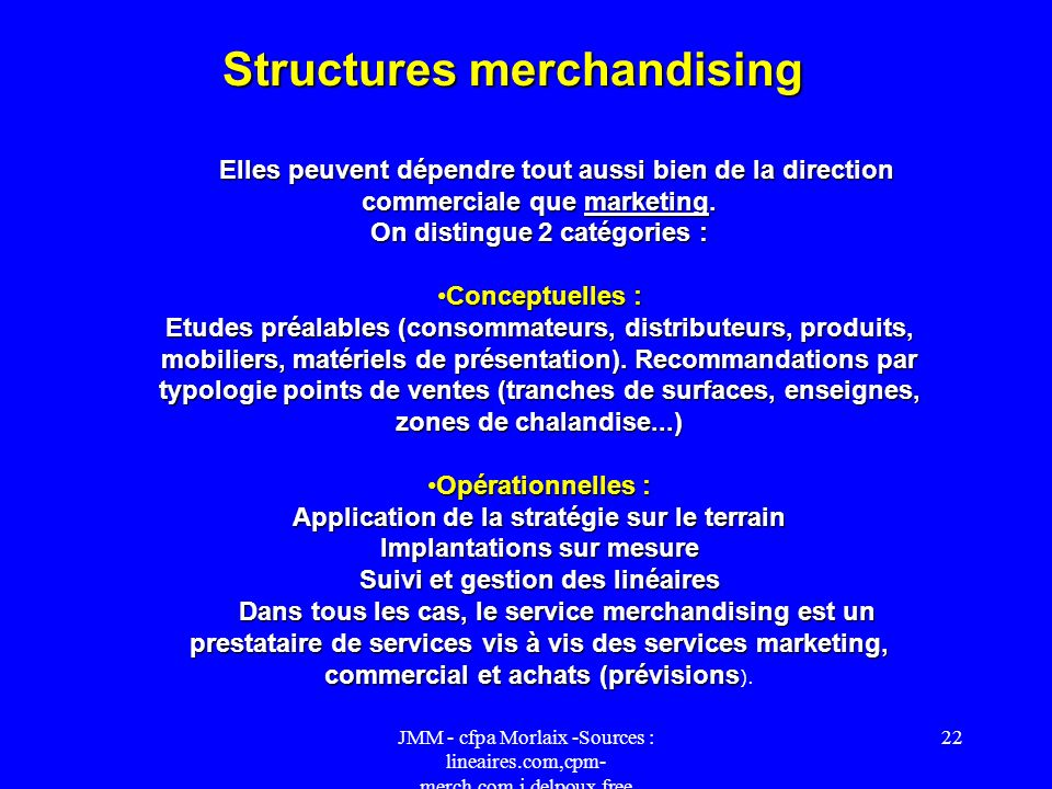 Structures merchandising