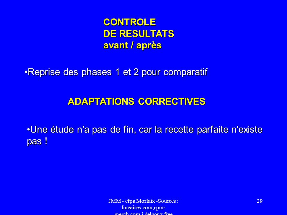 ADAPTATIONS CORRECTIVES