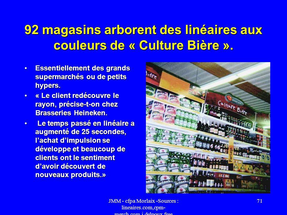 92 magasins arborent des linéaires aux couleurs de « Culture Bière ».