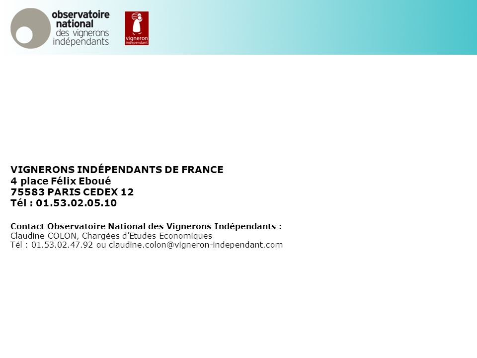 VIGNERONS INDÉPENDANTS DE FRANCE 4 place Félix Eboué