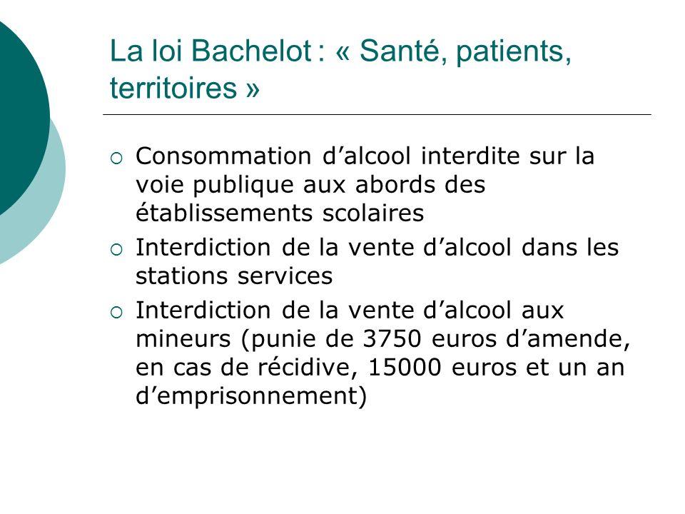 La loi Bachelot : « Santé, patients, territoires »
