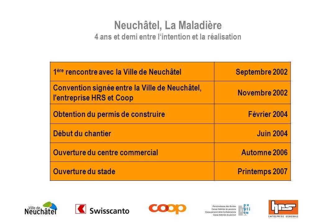 Neuchâtel, La Maladière 4 ans et demi entre l'intention et la réalisation