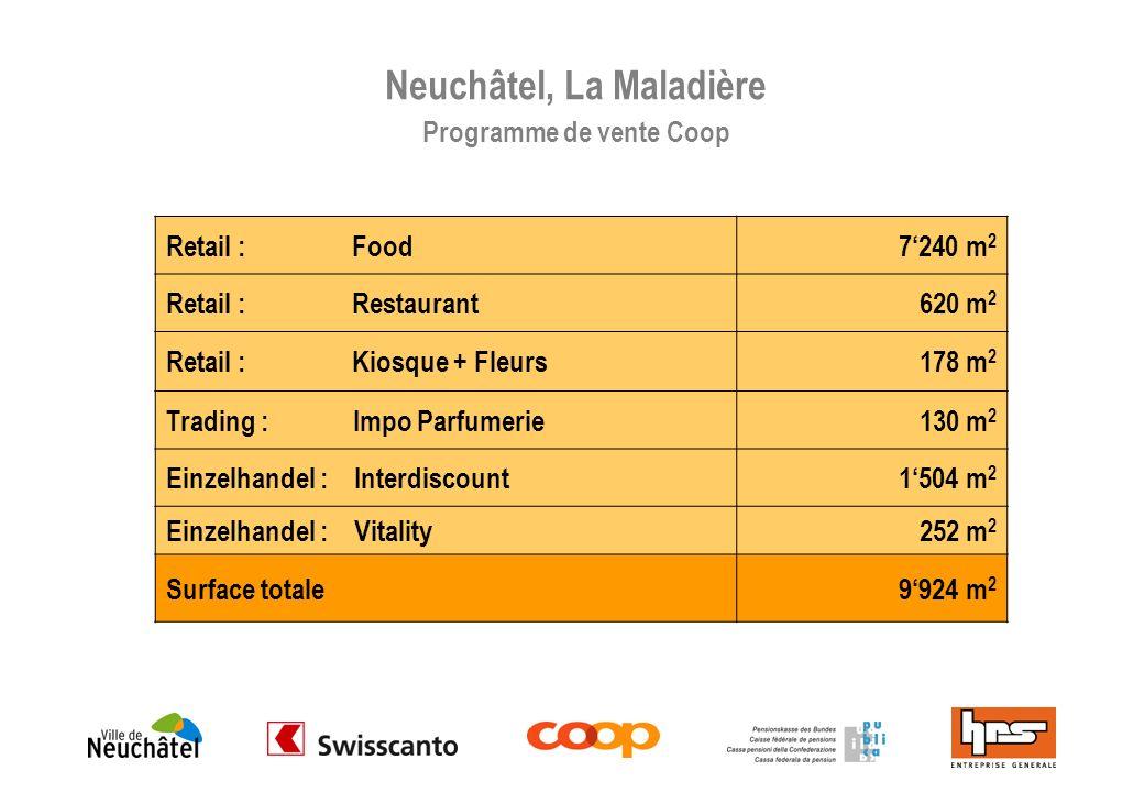 Neuchâtel, La Maladière Programme de vente Coop
