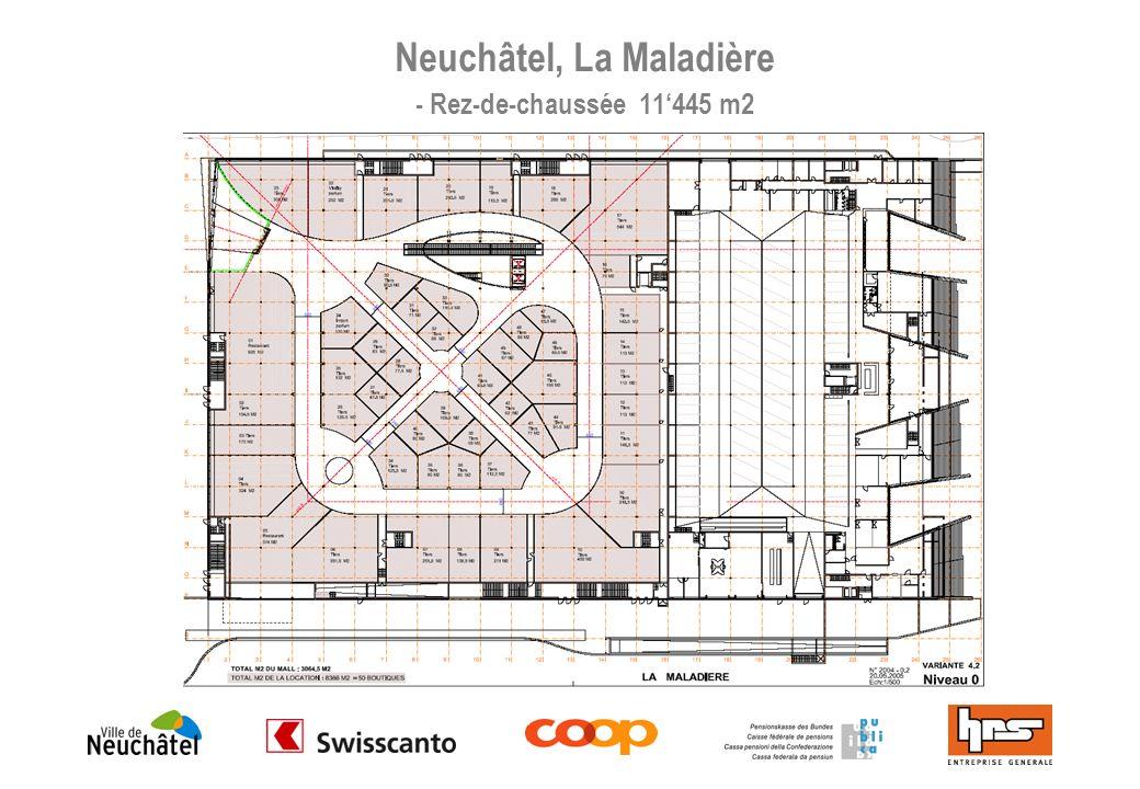 Neuchâtel, La Maladière - Rez-de-chaussée 11'445 m2