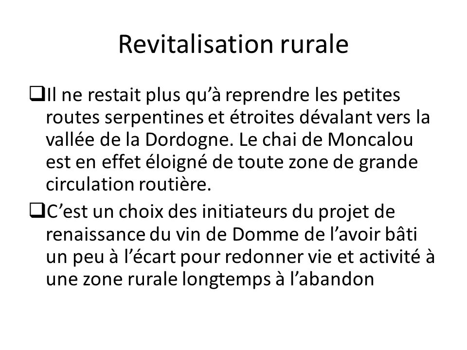 Revitalisation rurale