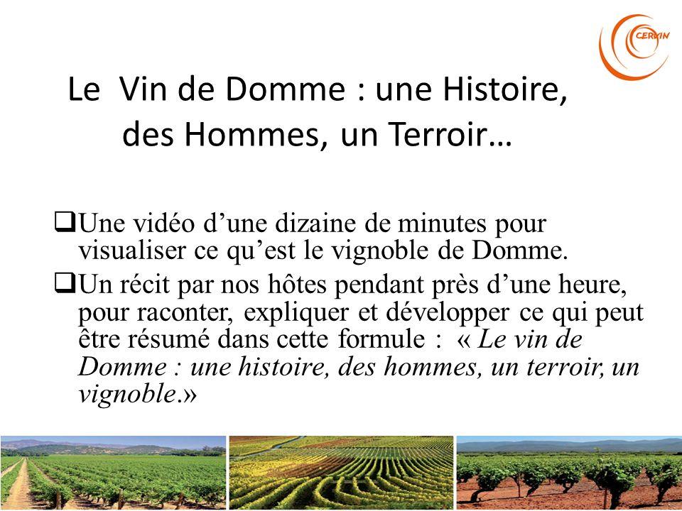 Le Vin de Domme : une Histoire, des Hommes, un Terroir…