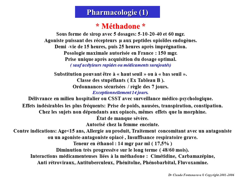 Pharmacologie (1)