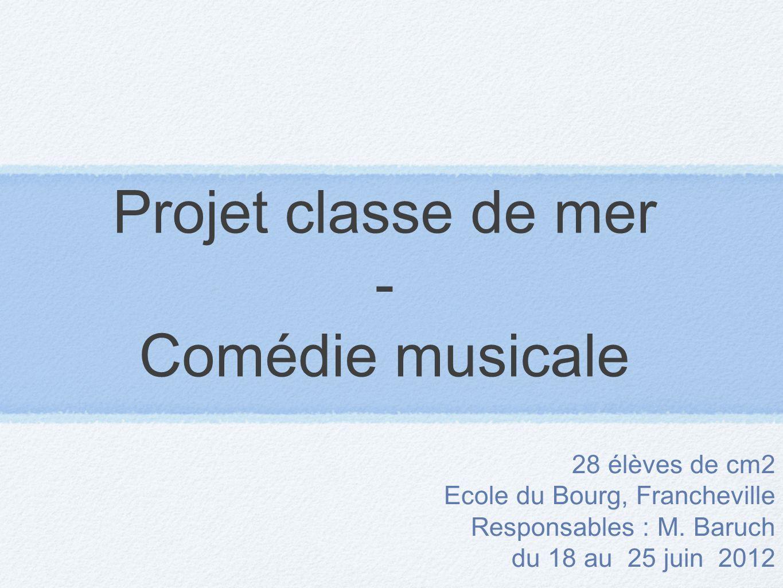 Projet classe de mer - Comédie musicale