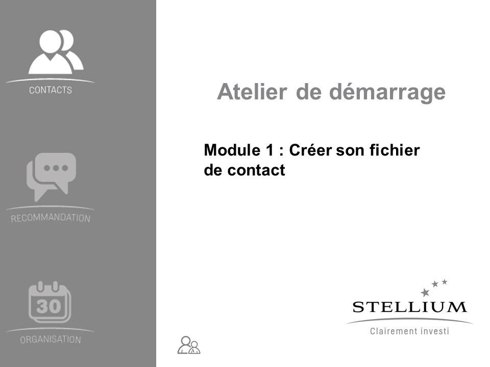 Module 1 : Créer son fichier de contact
