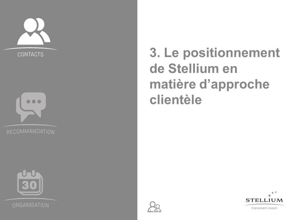 3. Le positionnement de Stellium en matière d'approche clientèle