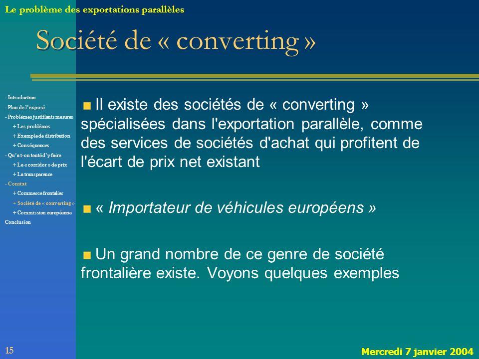 Société de « converting »