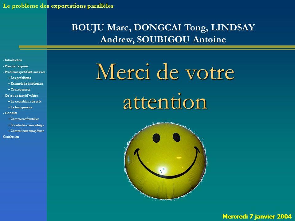 BOUJU Marc, DONGCAI Tong, LINDSAY Andrew, SOUBIGOU Antoine