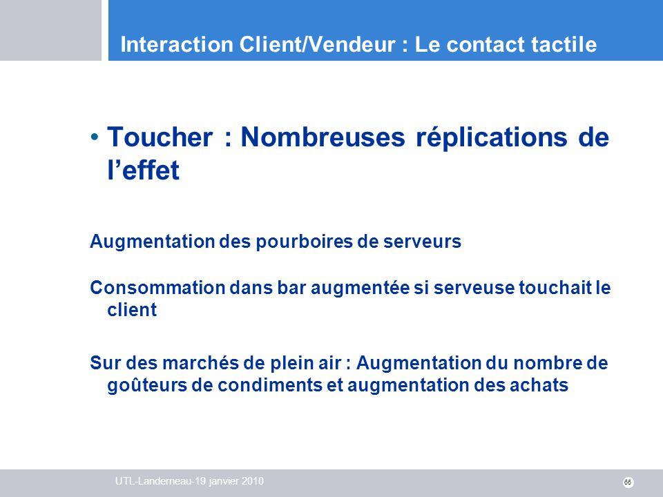 Interaction Client/Vendeur : Le contact tactile