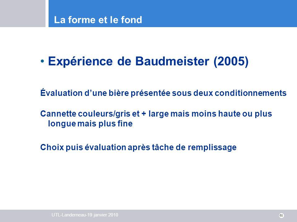Expérience de Baudmeister (2005)