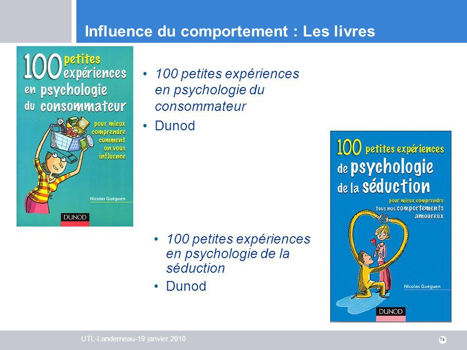 Influence du comportement : Les livres
