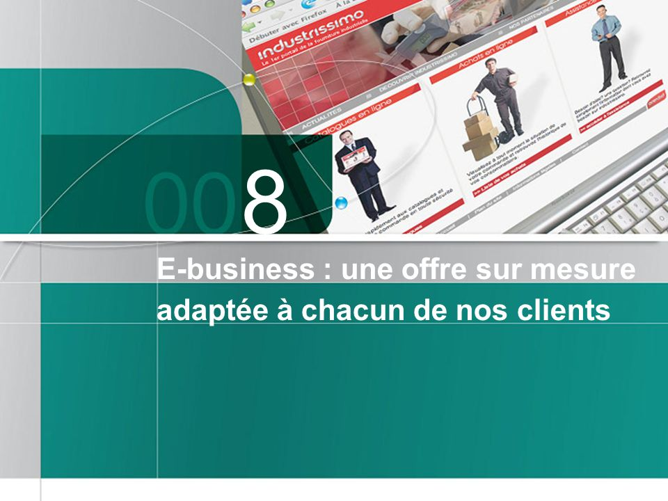 8 E-business : une offre sur mesure adaptée à chacun de nos clients