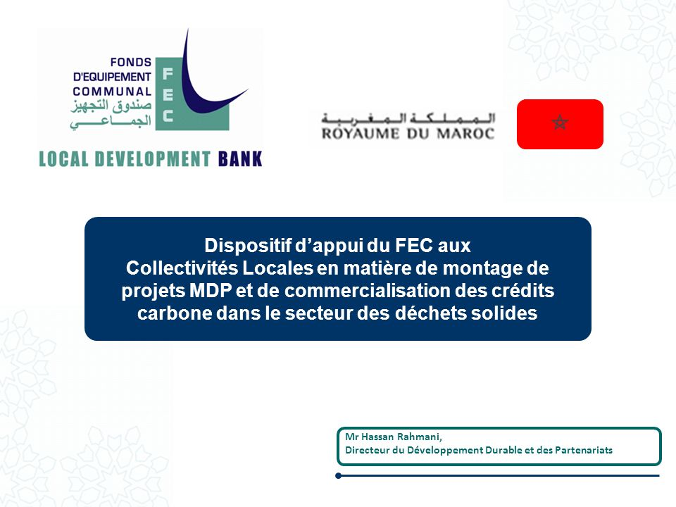 Dispositif d'appui du FEC aux