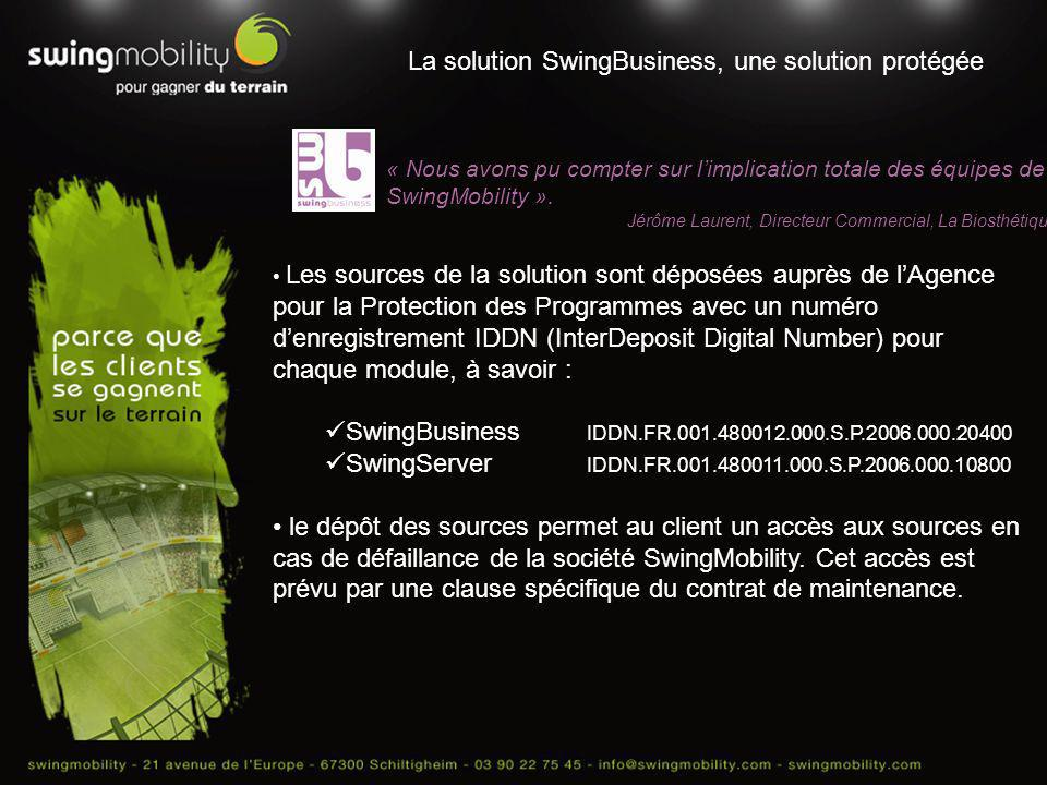 La solution SwingBusiness, une solution protégée