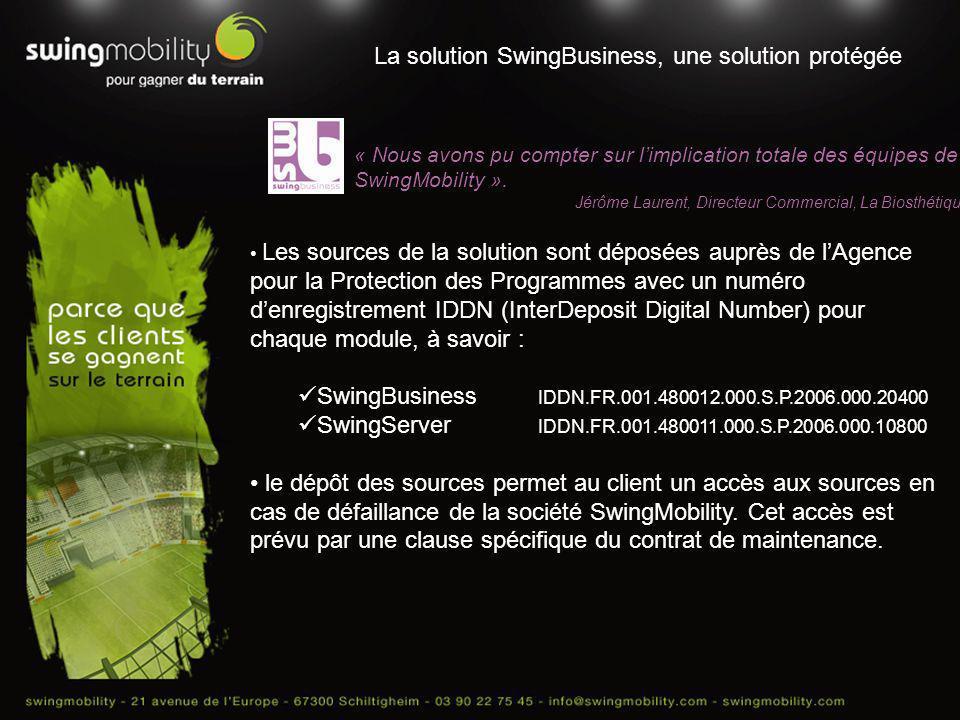 La solution SwingBusiness, une solution protégée