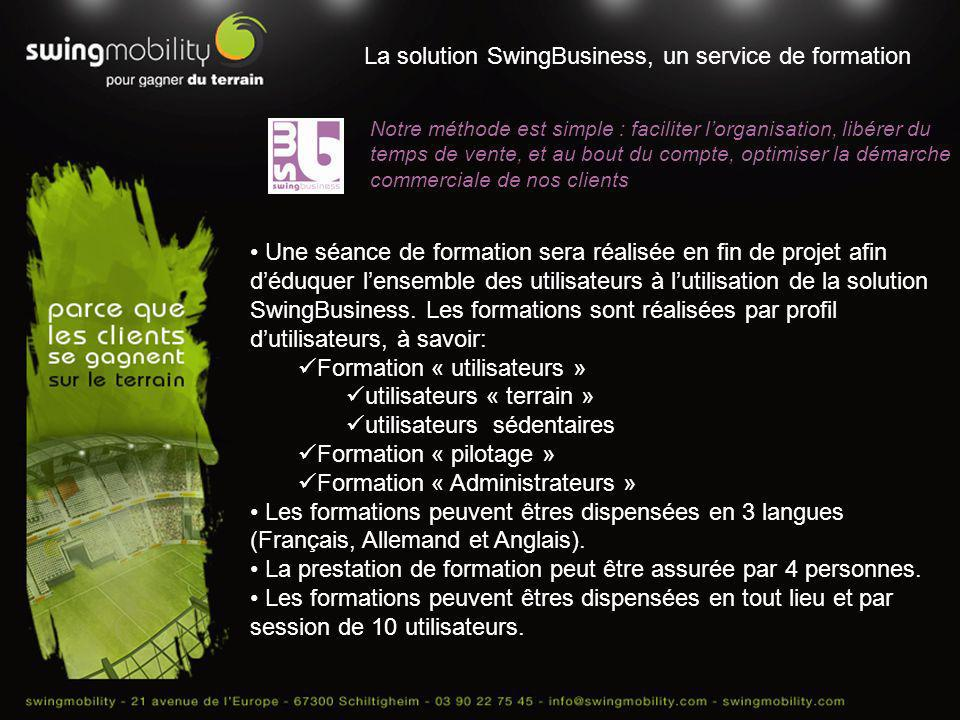 La solution SwingBusiness, un service de formation