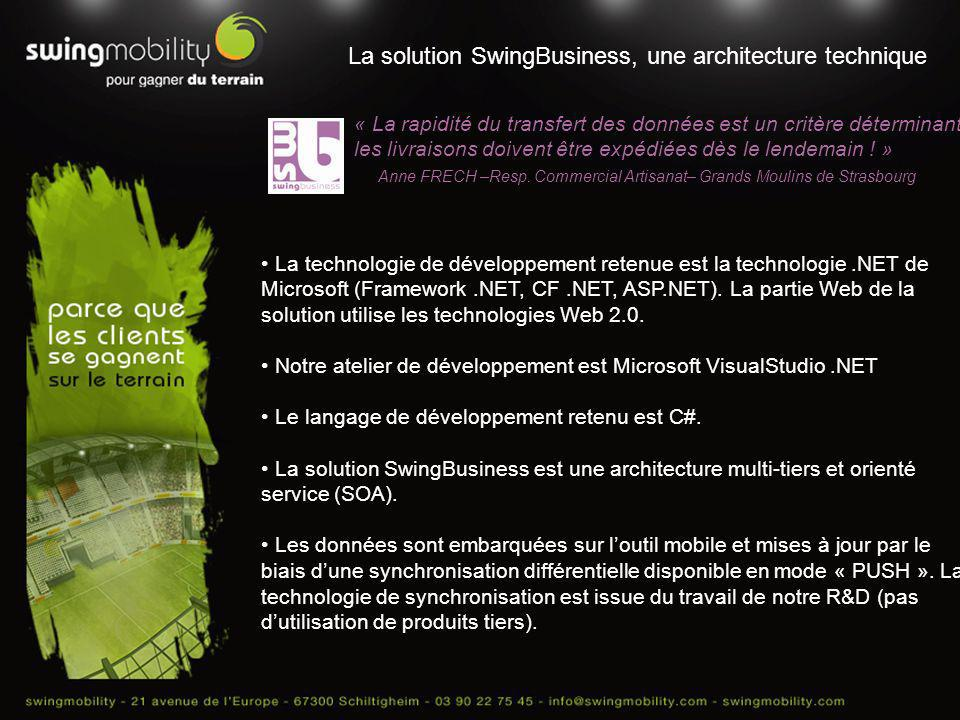 La solution SwingBusiness, une architecture technique
