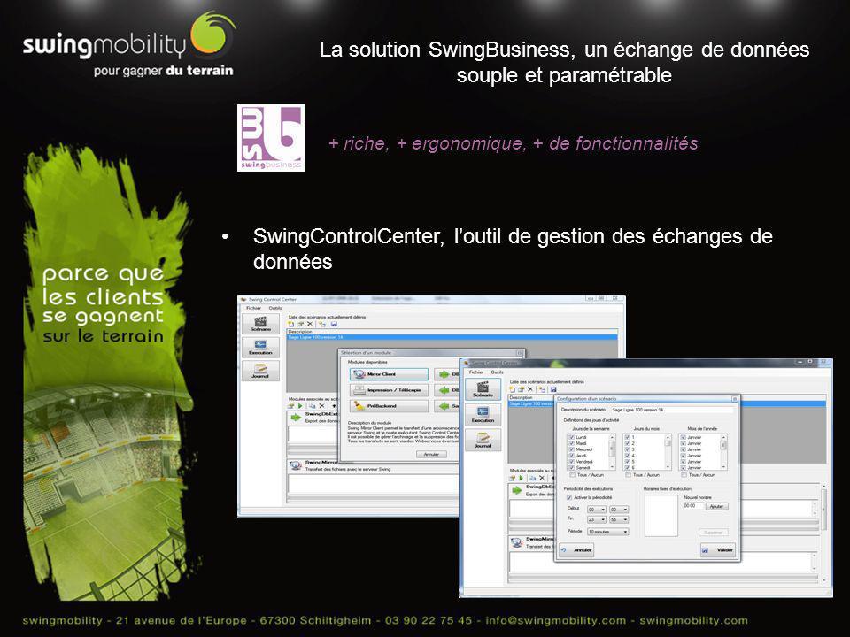 SwingControlCenter, l'outil de gestion des échanges de données