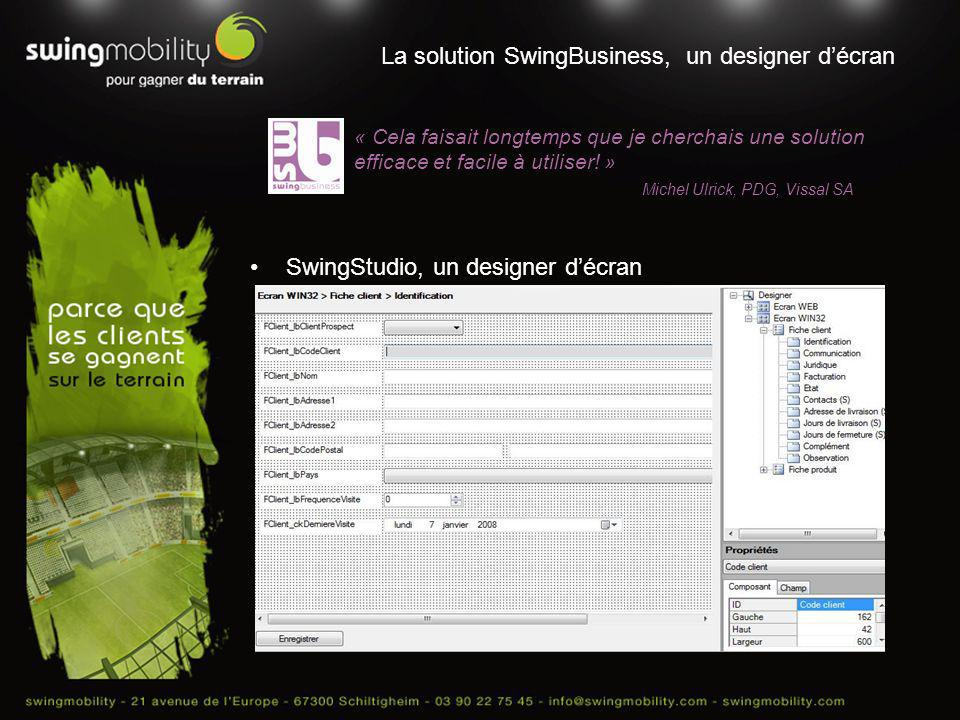 La solution SwingBusiness, un designer d'écran