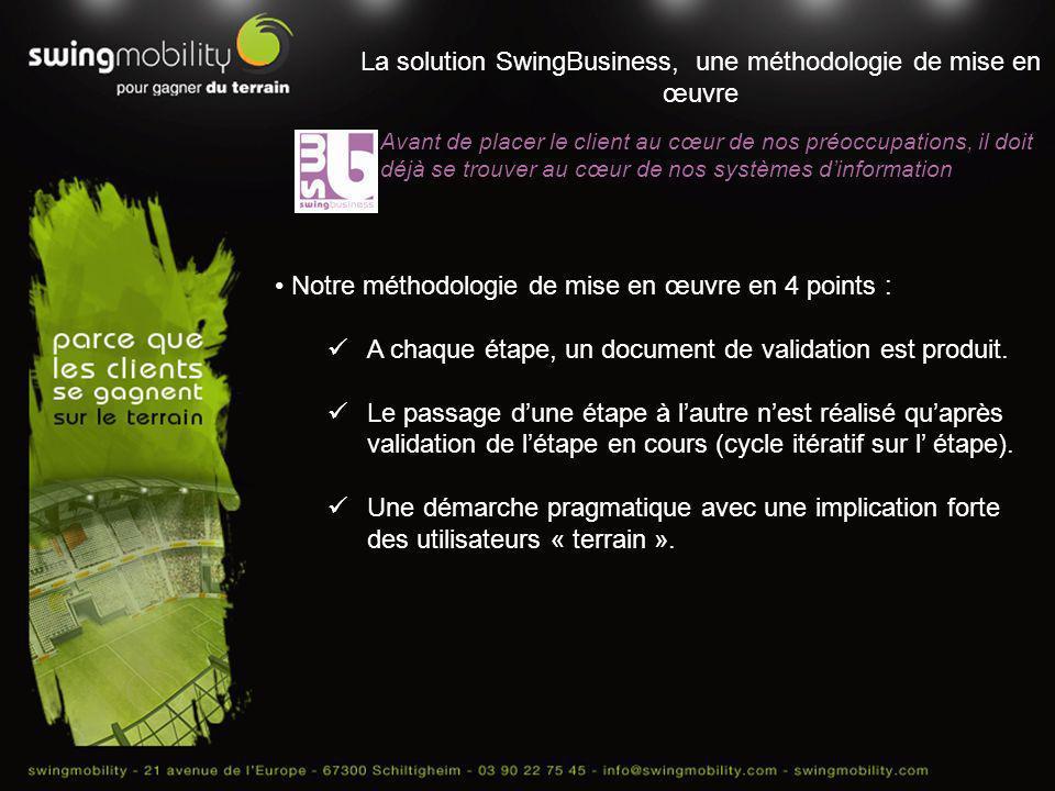La solution SwingBusiness, une méthodologie de mise en œuvre