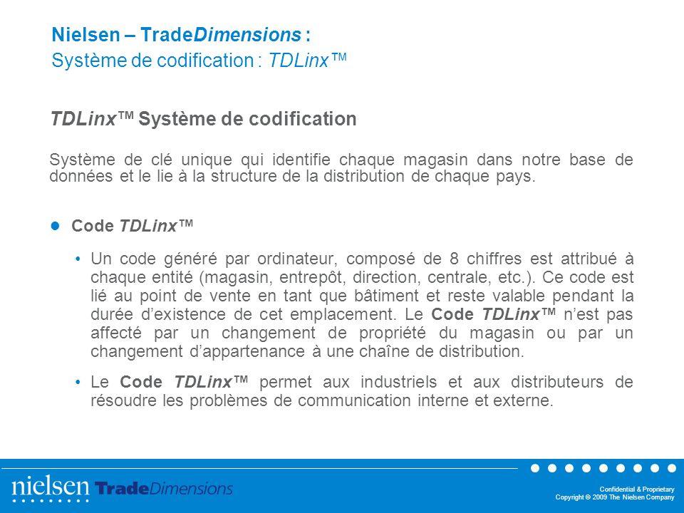 Nielsen – TradeDimensions : Système de codification : TDLinx™