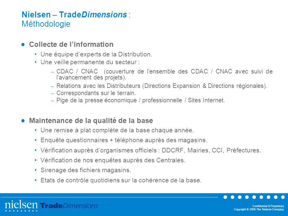 Nielsen – TradeDimensions : Méthodologie