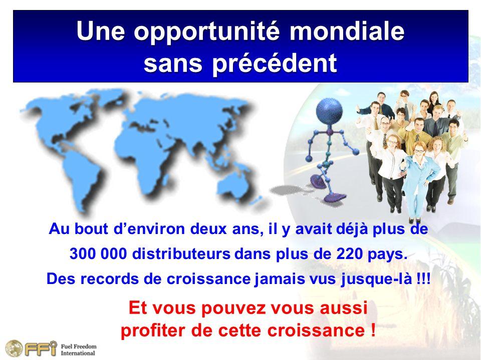 Une opportunité mondiale sans précédent