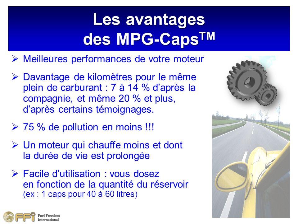 Les avantages des MPG-CapsTM