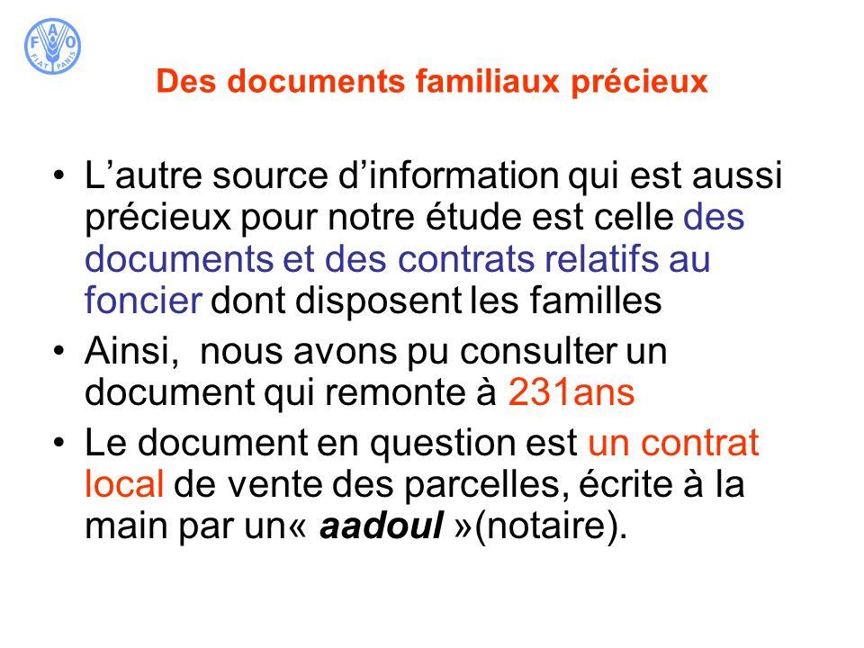 Des documents familiaux précieux