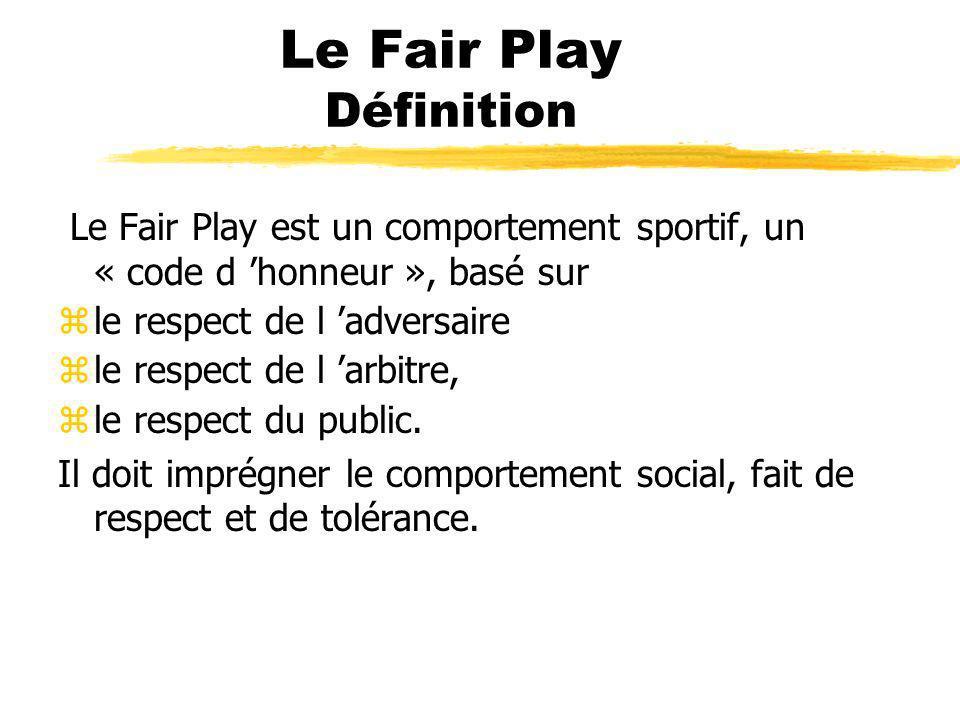 Le Fair Play Définition