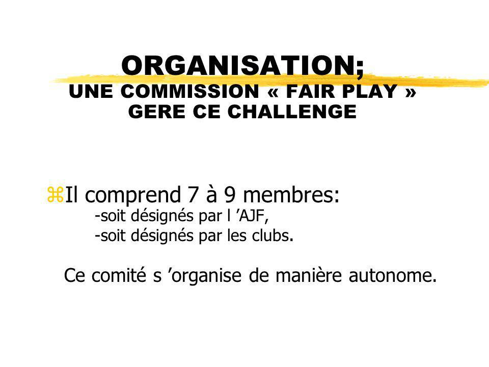 ORGANISATION; UNE COMMISSION « FAIR PLAY » GERE CE CHALLENGE