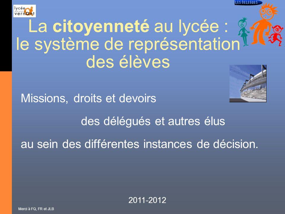 La citoyenneté au lycée : le système de représentation des élèves