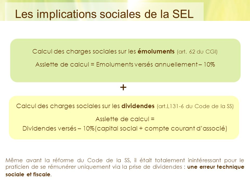+ Les implications sociales de la SEL