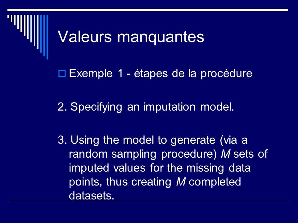 Valeurs manquantes Exemple 1 - étapes de la procédure