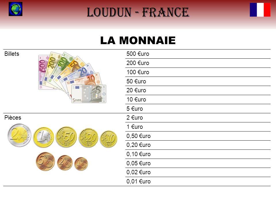 LA MONNAIE Billets 500 €uro 200 €uro 100 €uro 50 €uro 20 €uro 10 €uro