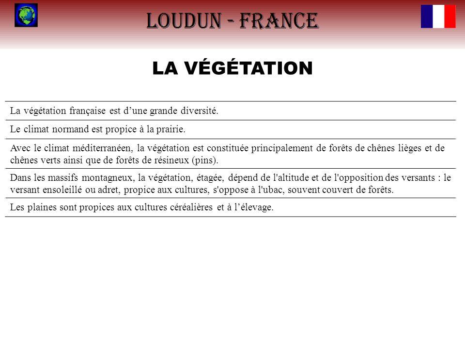 LA VÉGÉTATION La végétation française est d'une grande diversité.