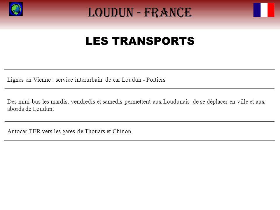 LES TRANSPORTS Lignes en Vienne : service interurbain de car Loudun - Poitiers.
