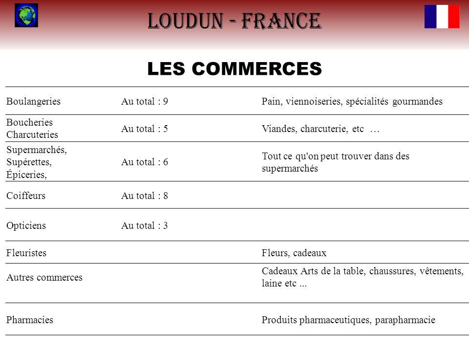 LES COMMERCES Boulangeries Au total : 9