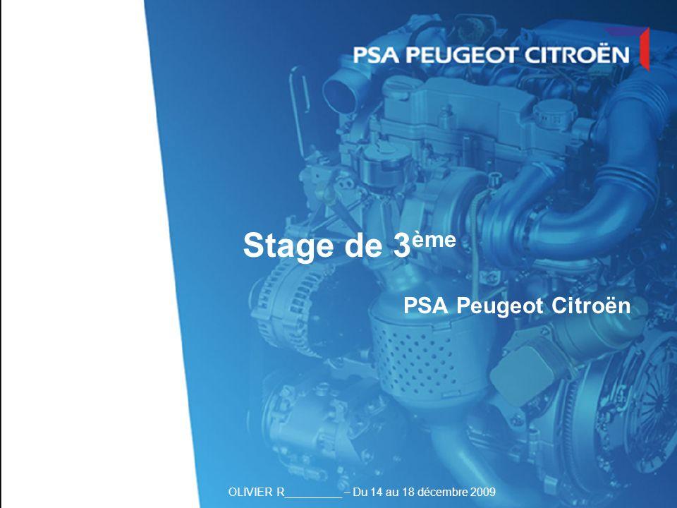 Stage de 3ème PSA Peugeot Citroën Page de garde