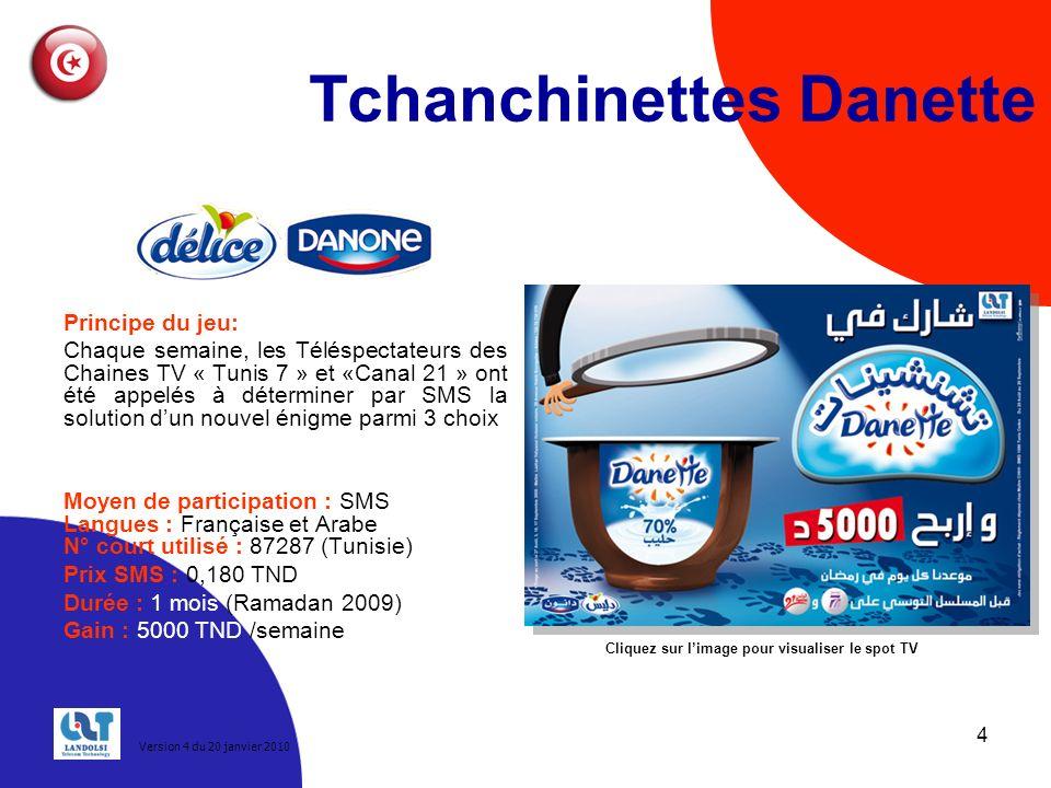 Tchanchinettes Danette