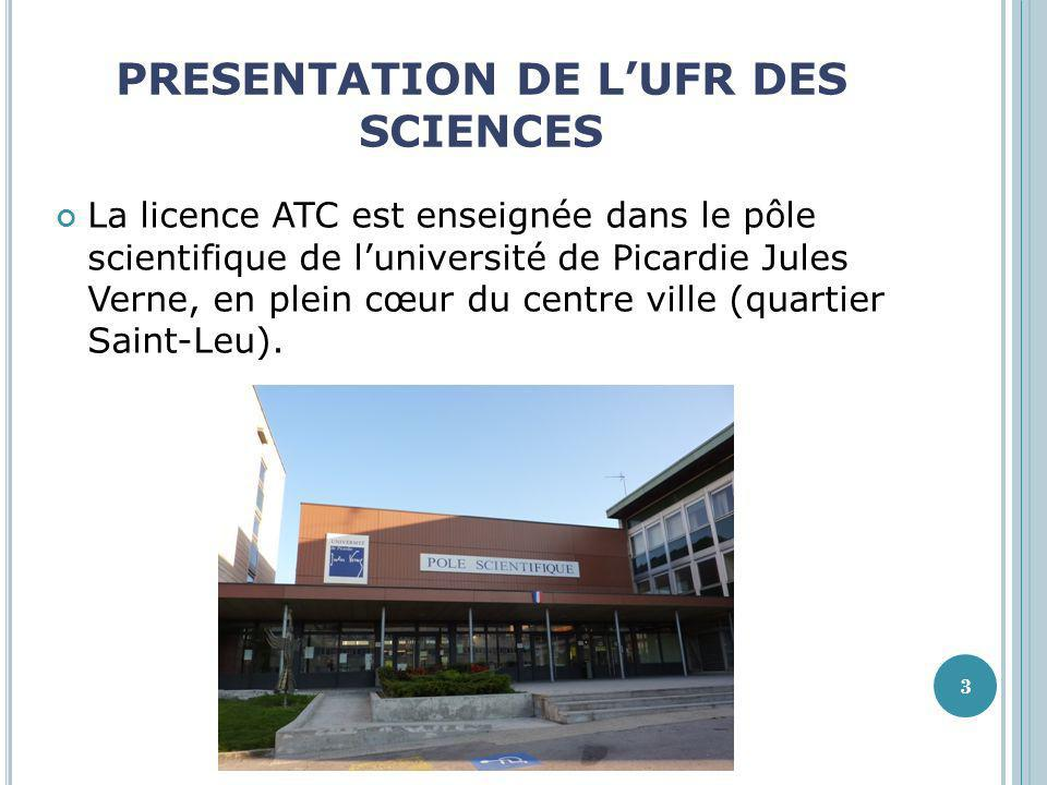 PRESENTATION DE L'UFR DES SCIENCES