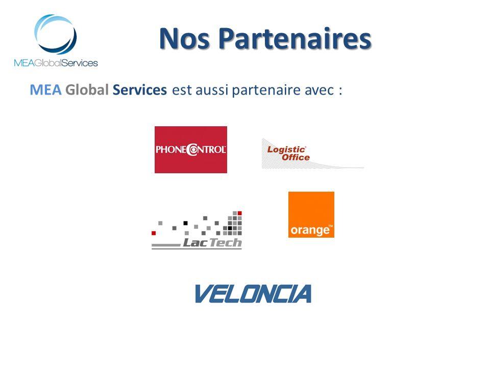 Nos Partenaires MEA Global Services est aussi partenaire avec :