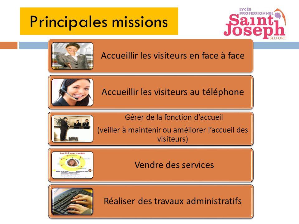 Principales missions Vendre des services