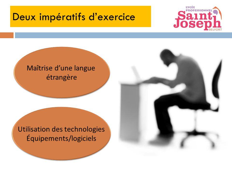 Deux impératifs d'exercice