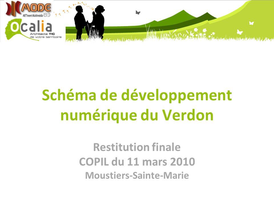 Schéma de développement numérique du Verdon Restitution finale COPIL du 11 mars 2010 Moustiers-Sainte-Marie